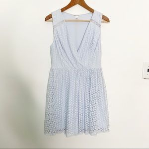Nikibiki Blue Nylon Cotton Lace Dress